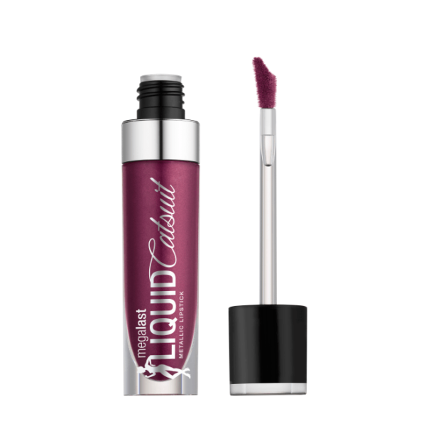 Υγρό κραγιόν Wet n Wild MegaLast Liquid Catsuit Metallic Lipstick 6g - Acai So Serious 961