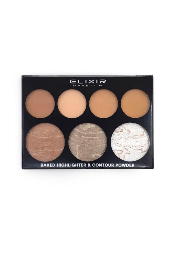 Παλέτα contouring Elixir Baked Highlighter & Contour Palette