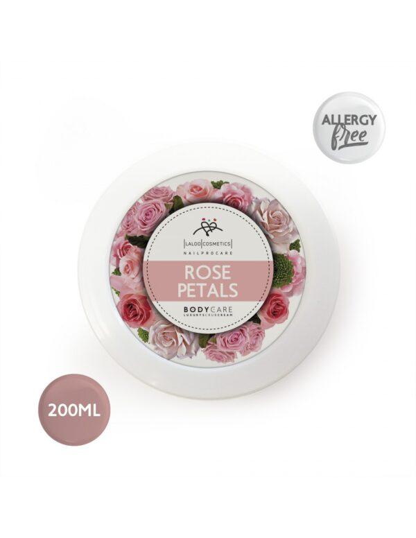 Κρέμα απολέπισης σώματος Laloo Cream Scrub Rose Petals 200ml
