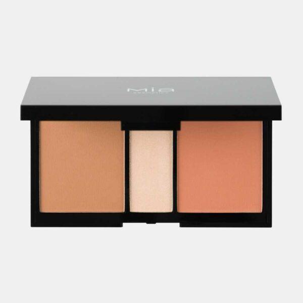 Παλέτα προσώπου ρουζ/bronzer Mia Cosmetics Winter Fairy Tale Face Pallete - Light Orange
