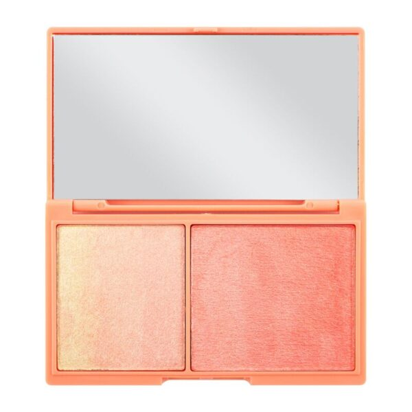 I Heart Revolution Mini Chocolate Blush And Highlight Palette 11g - Peach And Glow