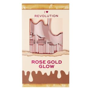 I Heart Revolution Mini Chocolate Highlighter Palette 11.2g- Rose Gold Glow