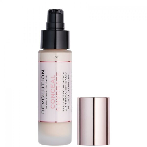 Makeup Revolution Radiance Foundation Conceal & Hydrate F2