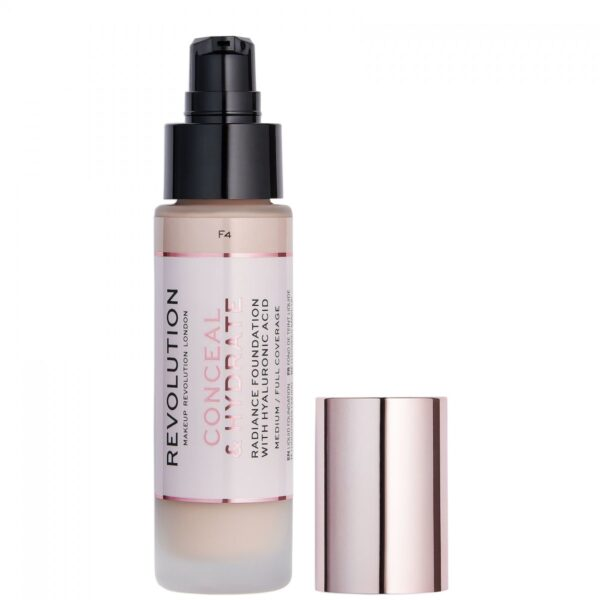 Makeup Revolution Radiance Foundation Conceal & Hydrate F4