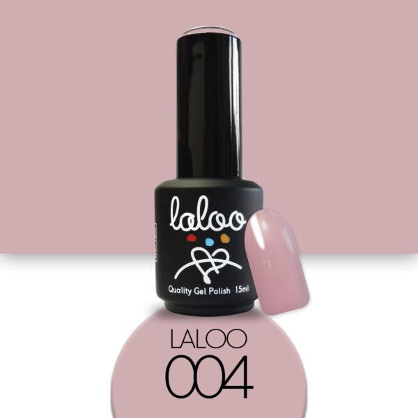 Ημιμόνιμο βερνίκι Laloo Cosmetics 15ml - N.04 Σάπιο μήλο (Nude)