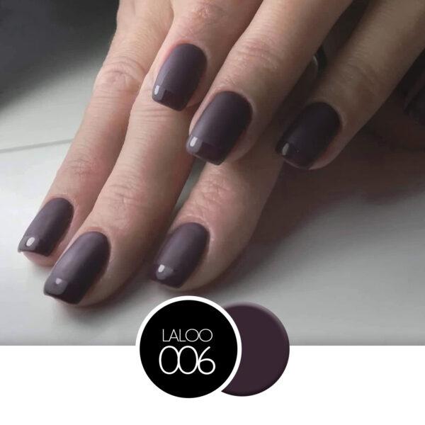 Ημιμόνιμο βερνίκι Laloo Cosmetics 15ml - N.06 Καφέ-Μελιτζανί