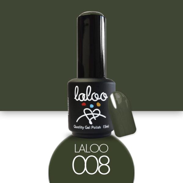 Ημιμόνιμο βερνίκι Laloo Cosmetics 15ml - N.08 Χακί