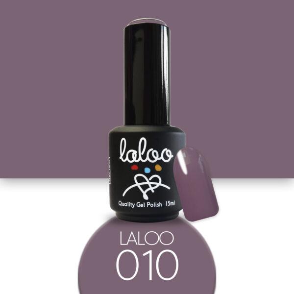Ημιμόνιμο βερνίκι Laloo Cosmetics 15ml - N.10 Γκρι-Μωβ