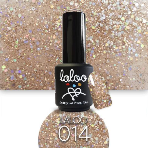 Ημιμόνιμο βερνίκι Laloo Cosmetics 15ml - N.14 Μπρονζέ με ελαφρύ shimmer