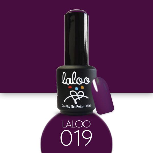 Ημιμόνιμο βερνίκι Laloo Cosmetics 15ml - N.19 Μωβ-Μελιτζανί