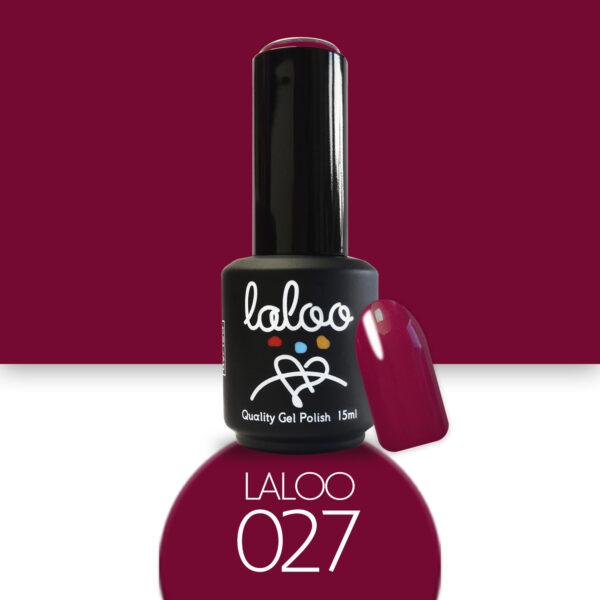 Ημιμόνιμο βερνίκι Laloo Cosmetics 15ml - N.27 Κόκκινο σκούρο