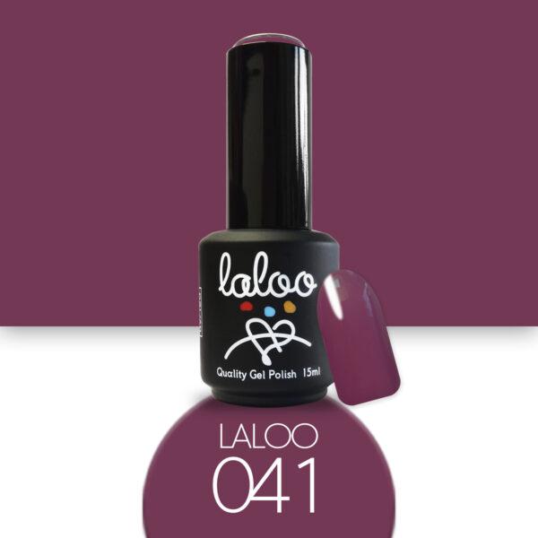 Ημιμόνιμο βερνίκι Laloo Cosmetics 15ml - N.41 Τριανταφυλλί-μωβ