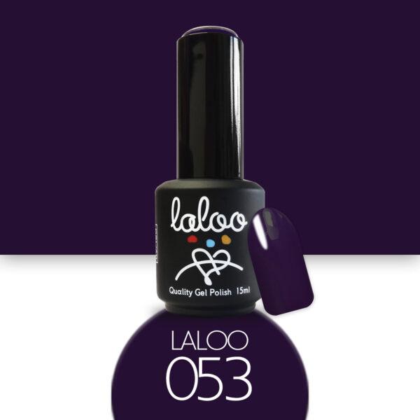 Ημιμόνιμο βερνίκι Laloo Cosmetics 15ml - N.53 Μωβ-black