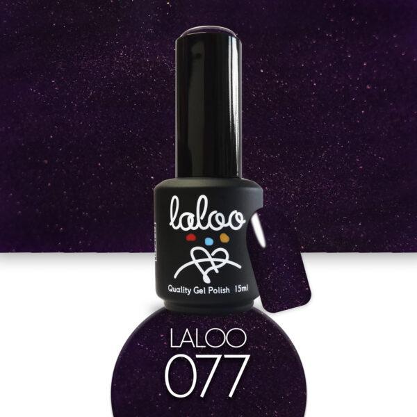 Ημιμόνιμο βερνίκι Laloo Cosmetics 15ml - N.77 Μελιτζανί μαύρο με ελαφρύ shimmer