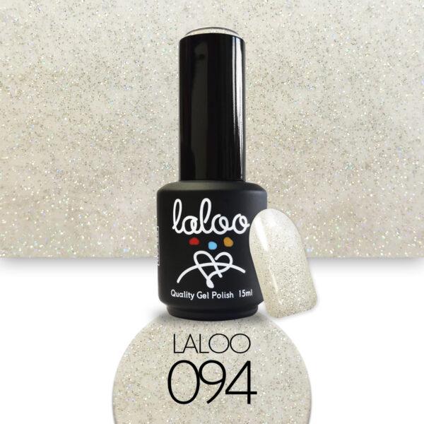 Ημιμόνιμο βερνίκι Laloo Cosmetics 15ml - N.94 Ασημί glitter ολογραφικό