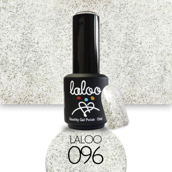 Ημιμόνιμο βερνίκι Laloo Cosmetics 15ml - N.96 Ασημί glitter (ψιλός κόκκος)