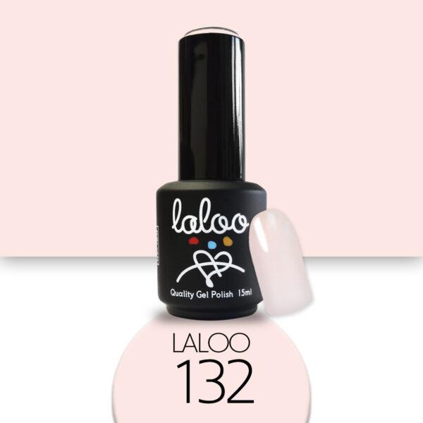 Ημιμόνιμο βερνίκι Laloo Cosmetics 15ml - N.132 Pink natural ημιδιάφανο (βάση γαλλικού)
