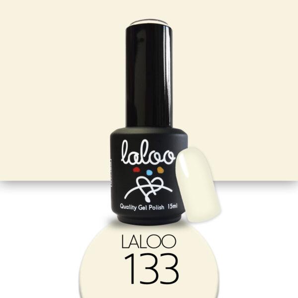 Ημιμόνιμο βερνίκι Laloo Cosmetics 15ml - N.133 Υπόλευκο ημιδιάφανο (βάση γαλλικού)