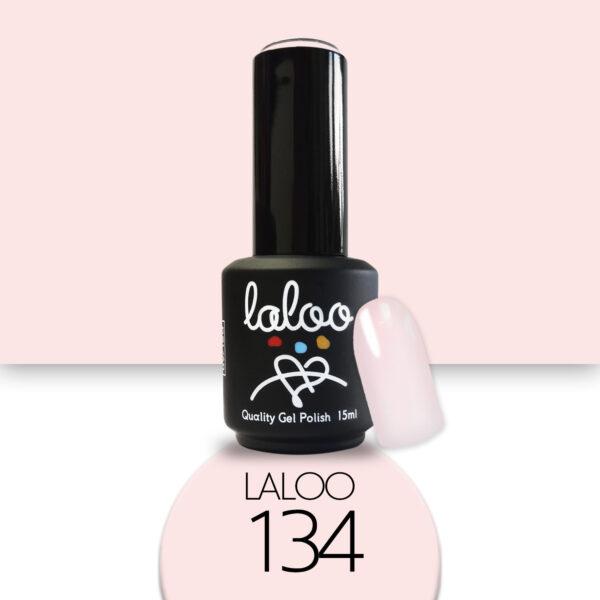 Ημιμόνιμο βερνίκι Laloo Cosmetics 15ml - N.134 Pink έντονο ημιδιάφανο (βάση γαλλικού)