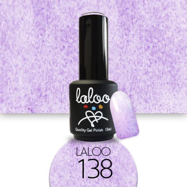 Ημιμόνιμο βερνίκι Laloo Cosmetics 15ml - N.138 Εφέ μαρμάρου μωβ-λιλά