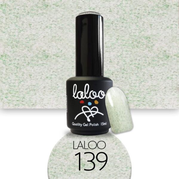 Ημιμόνιμο βερνίκι Laloo Cosmetics 15ml - N.139 Εφέ μαρμάρου πράσινο παλ