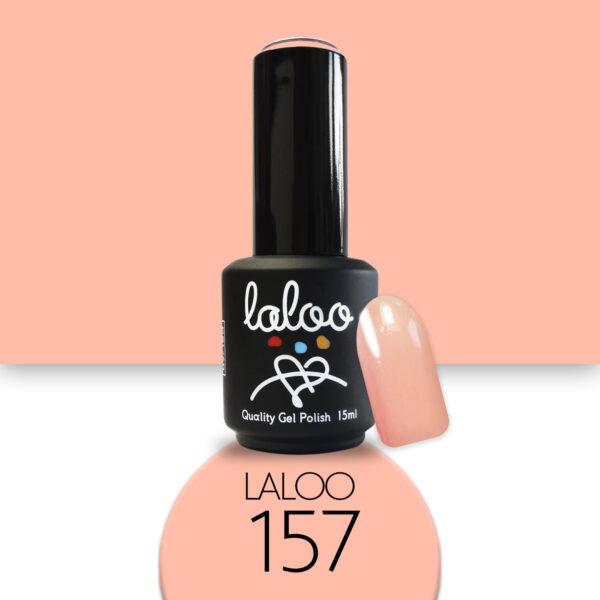 Ημιμόνιμο βερνίκι Laloo Cosmetics 15ml - N.157 Σομόν βερικοκί