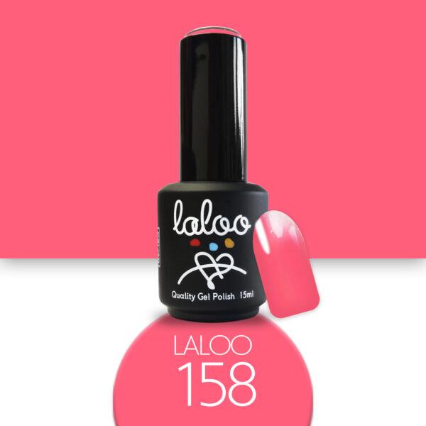 Ημιμόνιμο βερνίκι Laloo Cosmetics 15ml - N.158 Κοραλί-ροζ έντονο νέον