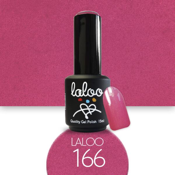 Ημιμόνιμο βερνίκι Laloo Cosmetics 15ml - N.166 Φούξια με ελαφρύ shimmer