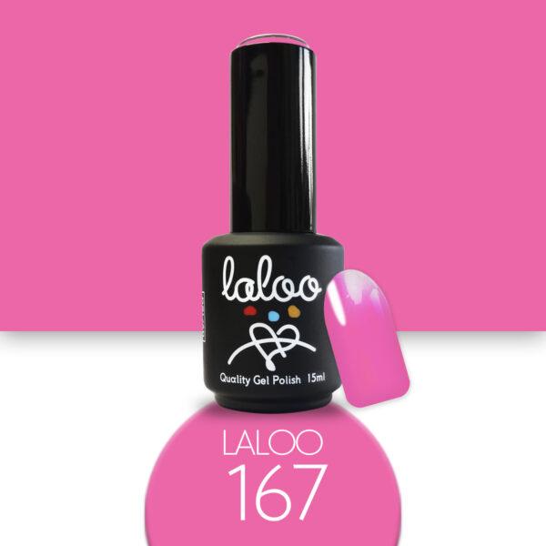 Ημιμόνιμο βερνίκι Laloo Cosmetics 15ml - N.167 Ροζ φούξια Barbie έντονο νέον