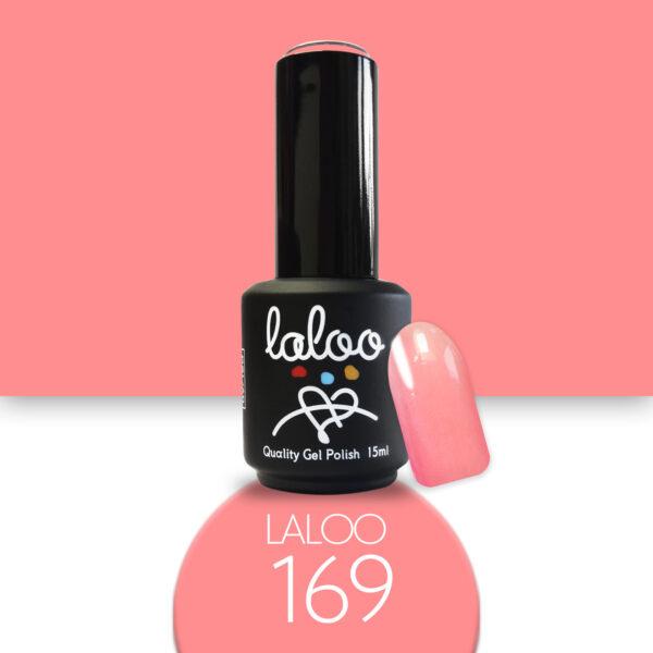 Ημιμόνιμο βερνίκι Laloo Cosmetics 15ml - N.169 Ροζ κοραλί έντονο νέον