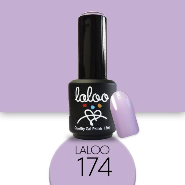 Ημιμόνιμο βερνίκι Laloo Cosmetics 15ml - N.174 Λιλά παστέλ ανοιχτό