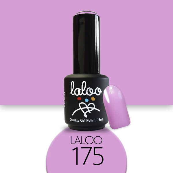 Ημιμόνιμο βερνίκι Laloo Cosmetics 15ml - N.175 Λιλά (χρώμα της πασχαλιάς)