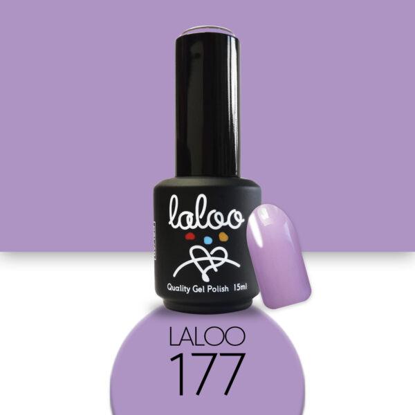 Ημιμόνιμο βερνίκι Laloo Cosmetics 15ml - N.177 Λιλά