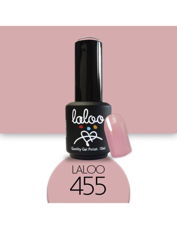 Ημιμόνιμο βερνίκι Laloo Cosmetics 15ml - N.455 Ροζ φθινοπωρινό