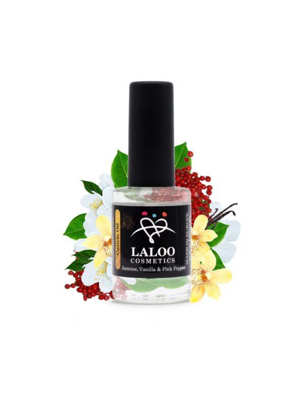 Λαδάκι επωνυχίων Laloo Cosmetics Jasmine, Vanilla & Pink Pepper 15 ml 01