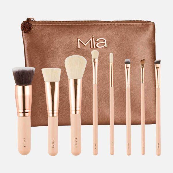 Σετ πινέλων 8τμχ. Mia Cosmetics Golden Rose