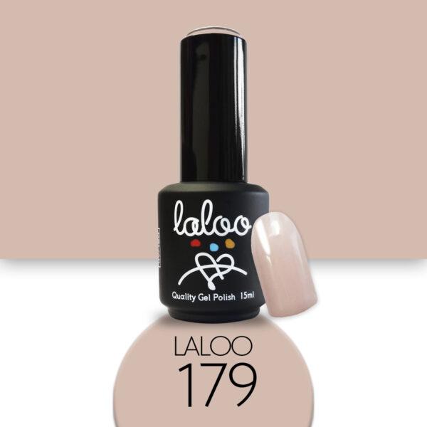 Ημιμόνιμο βερνίκι Laloo Cosmetics 15ml - N.179 Nude (μπεζ)