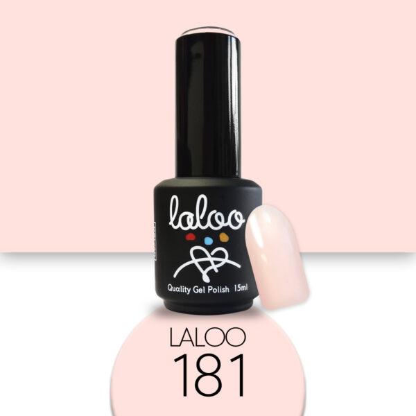 Ημιμόνιμο βερνίκι Laloo Cosmetics 15ml - N.181 Nude (προς σομόν ανοιχτό)