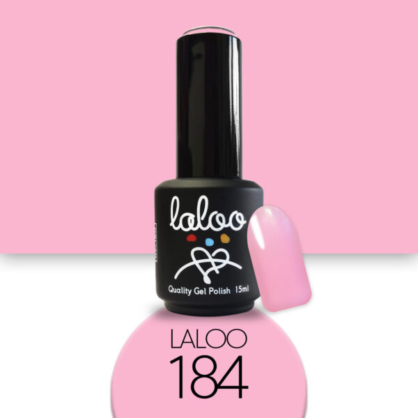 Ημιμόνιμο βερνίκι Laloo Cosmetics 15ml - N.184 Ροζ έντονο