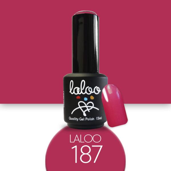 Ημιμόνιμο βερνίκι Laloo Cosmetics 15ml - N.187 Τριανταφυλλί