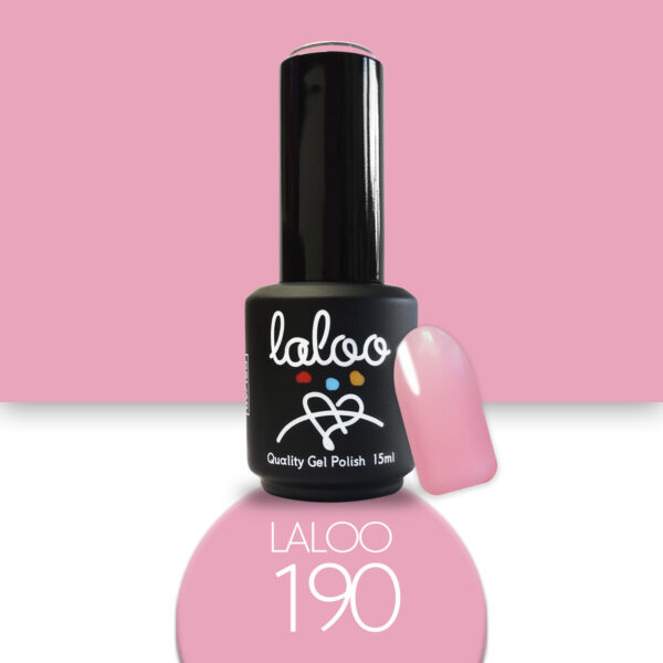 Ημιμόνιμο βερνίκι Laloo Cosmetics 15ml - N.190 Ροζ
