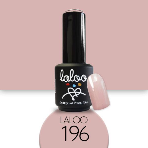 Ημιμόνιμο βερνίκι Laloo Cosmetics 15ml - N.196 Nude μπεζ
