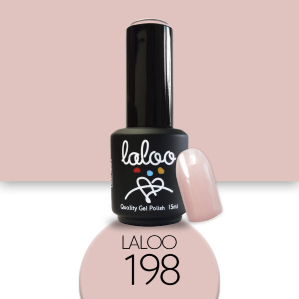 Ημιμόνιμο βερνίκι Laloo Cosmetics 15ml - N.198 Nude μπεζ