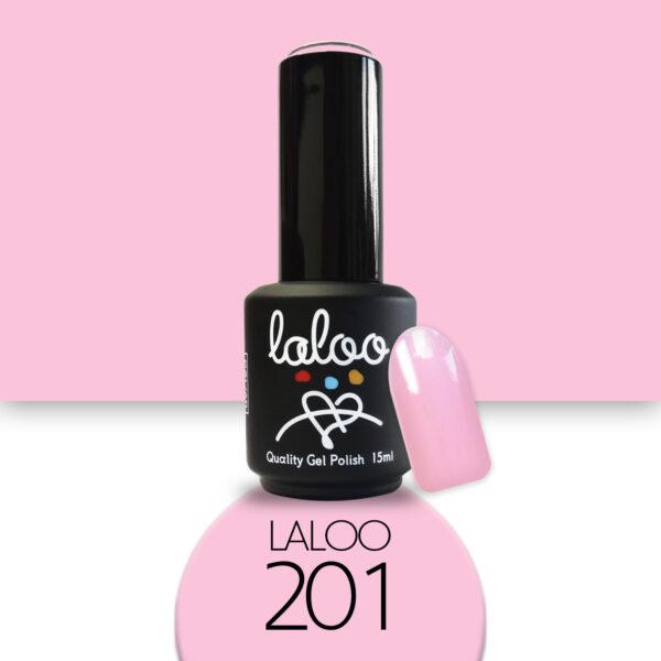 Ημιμόνιμο βερνίκι Laloo Cosmetics 15ml - N.201 Ροζ ανοιχτό