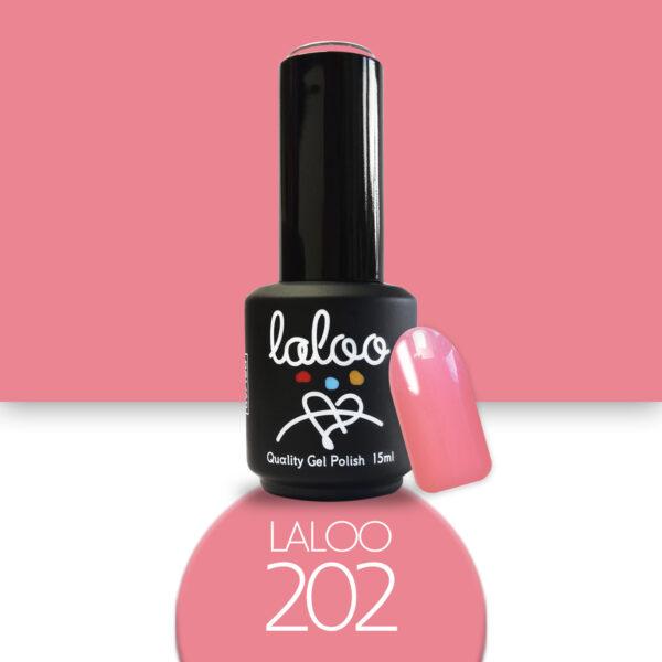 Ημιμόνιμο βερνίκι Laloo Cosmetics 15ml - N.202 Ροδί
