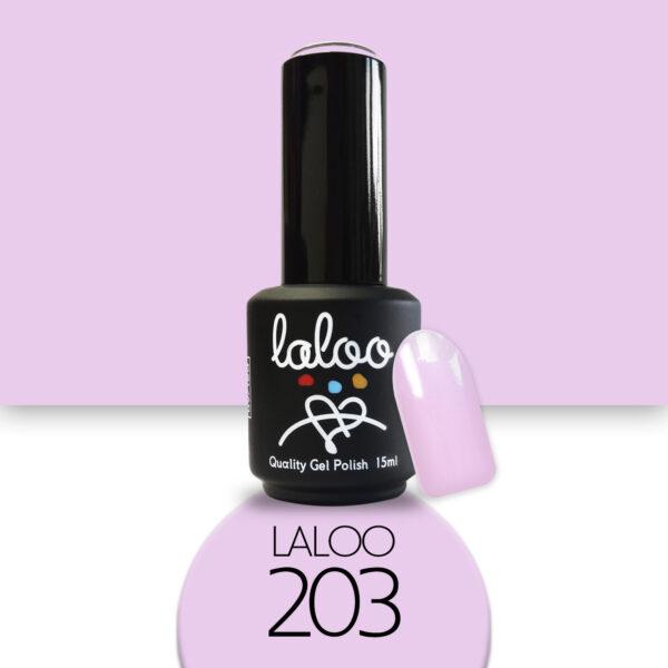 Ημιμόνιμο βερνίκι Laloo Cosmetics 15ml - N.203 Ροζ λιλά