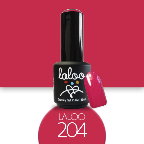 Ημιμόνιμο βερνίκι Laloo Cosmetics 15ml - N.204 Τριανταφυλλί