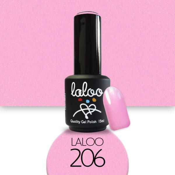 Ημιμόνιμο βερνίκι Laloo Cosmetics 15ml - N.206 Ροζ σκούρο με shimmer