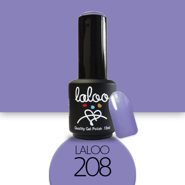 Ημιμόνιμο βερνίκι Laloo Cosmetics 15ml - N.208 Γαλάζιο μωβ