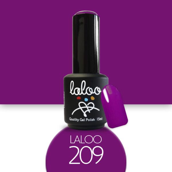 Ημιμόνιμο βερνίκι Laloo Cosmetics 15ml - N.209 Μενεξεδί σκούρο